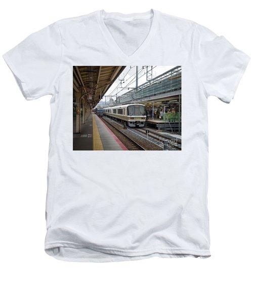 Kyoto To Osaka Train Station, Japan Men's V-Neck T-Shirt