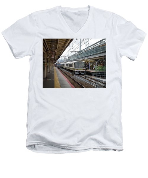 Kyoto To Osaka Train Station, Japan Men's V-Neck T-Shirt