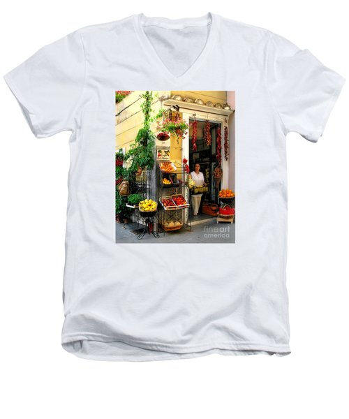 L Argogo Di Adriana  Minori Men's V-Neck T-Shirt by Jennie Breeze