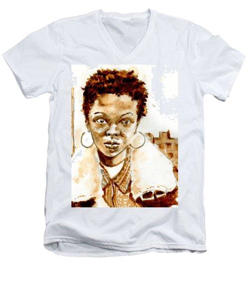 L Boogie Men's V-Neck T-Shirt by Howard Barry
