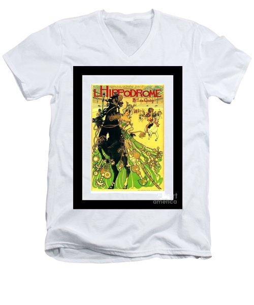 L Hippodrome 1905 Parisian Art Nouveau Poster II Manuel Orazi 1905 Men's V-Neck T-Shirt