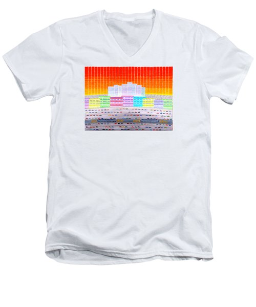 L.a. Cityscape Men's V-Neck T-Shirt