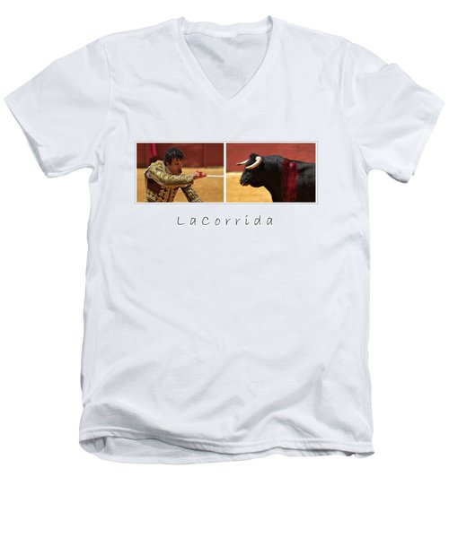 La Corrida Men's V-Neck T-Shirt