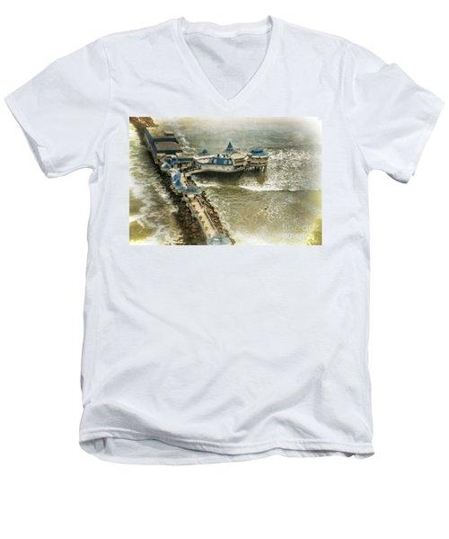 Men's V-Neck T-Shirt featuring the photograph La Rosa Nautica - Peru by Mary Machare