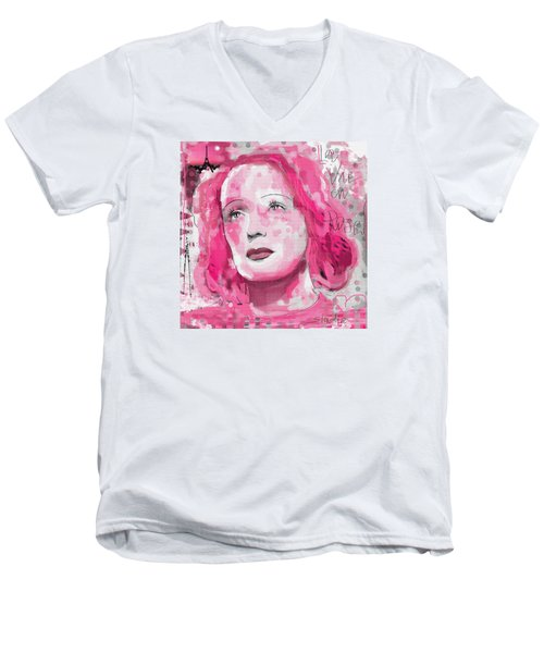La Vie En Rose Men's V-Neck T-Shirt by Sladjana Lazarevic