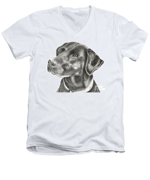 Lab Charcoal Drawing Men's V-Neck T-Shirt
