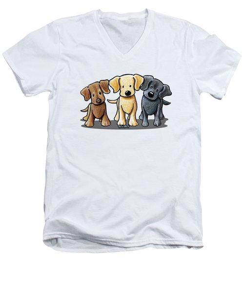 Labrador Beach Trio Men's V-Neck T-Shirt