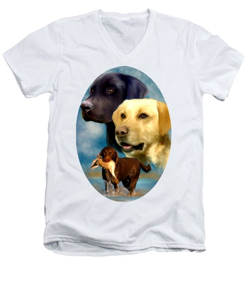 Labrador Retrievers Men's V-Neck T-Shirt