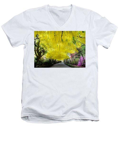 Laburnum Arch, Bodnant Garden Men's V-Neck T-Shirt
