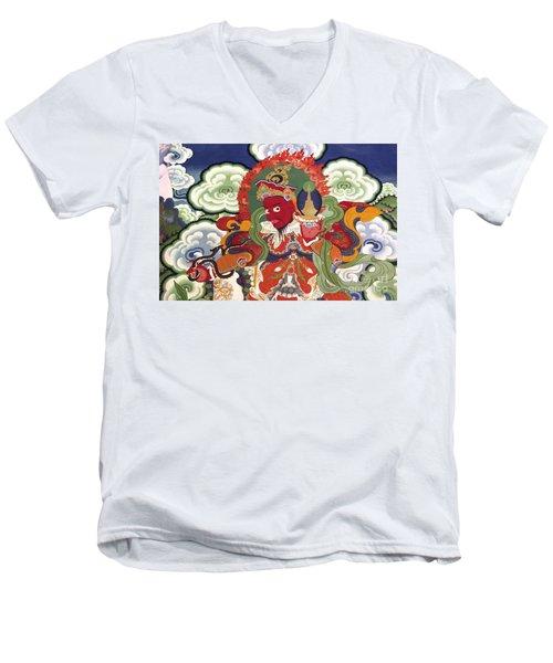 Men's V-Neck T-Shirt featuring the photograph Ladakh_17-2 by Craig Lovell