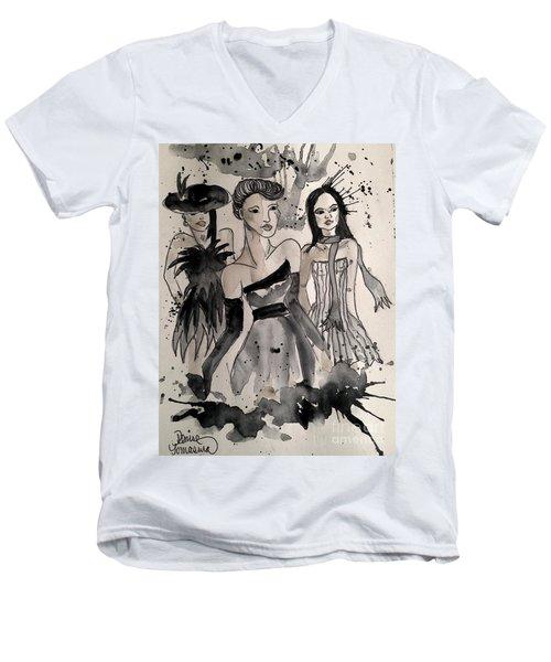 Ladies Galore Men's V-Neck T-Shirt by Denise Tomasura