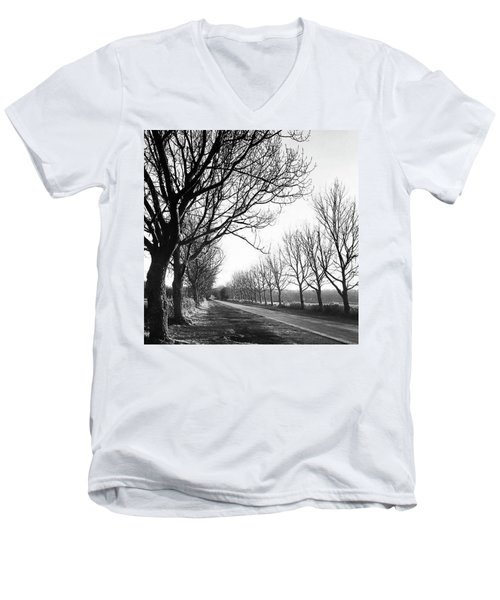 Lady Anne's Drive, Holkham Men's V-Neck T-Shirt by John Edwards