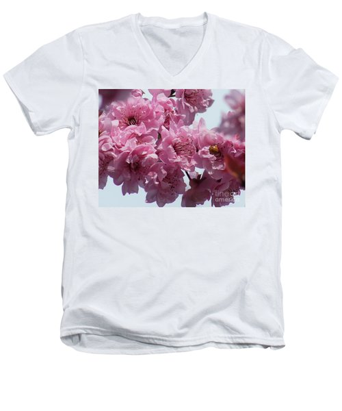 Men's V-Neck T-Shirt featuring the photograph Lady Bug by Victor K