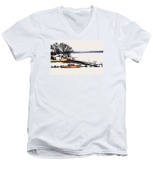 Men's V-Neck T-Shirt featuring the photograph Lady Jean by Jeremy Lavender Photography