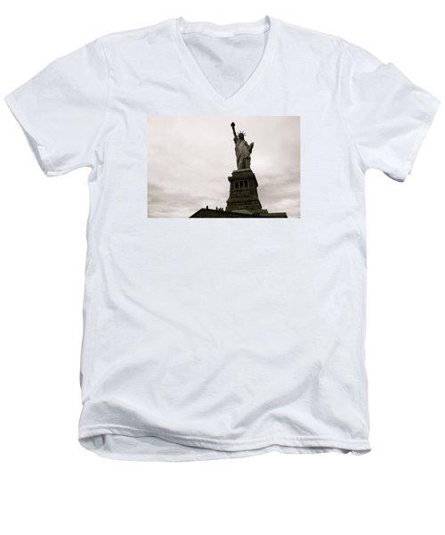 Lady Liberty Men's V-Neck T-Shirt by Mark Nowoslawski