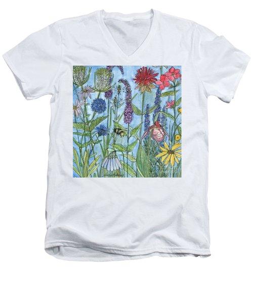 Lady Slipper In My Garden  Men's V-Neck T-Shirt