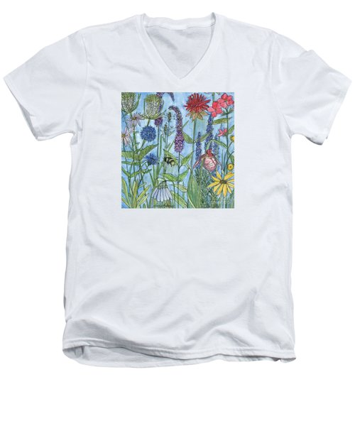 Lady Slipper In My Garden  Men's V-Neck T-Shirt