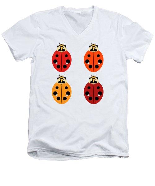 Ladybug Quartet Men's V-Neck T-Shirt