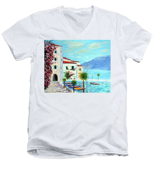 Lake Garda Bliss Men's V-Neck T-Shirt