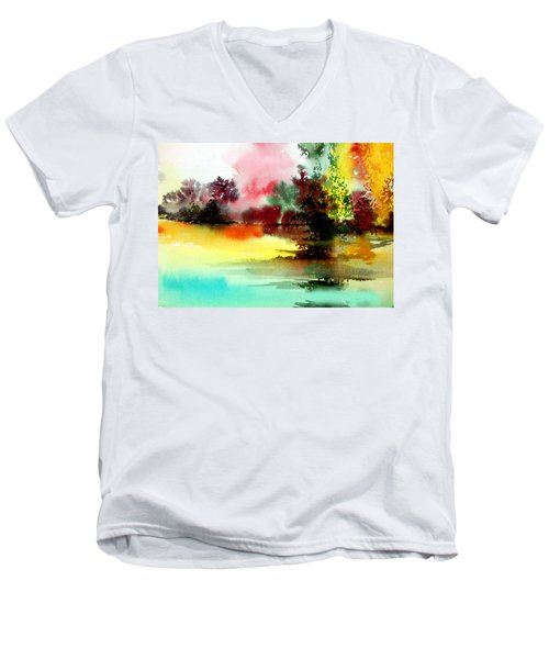 Lake In Colours Men's V-Neck T-Shirt