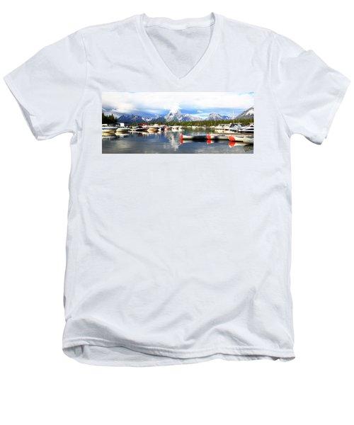 Lake Jackson Men's V-Neck T-Shirt by Lam Tran