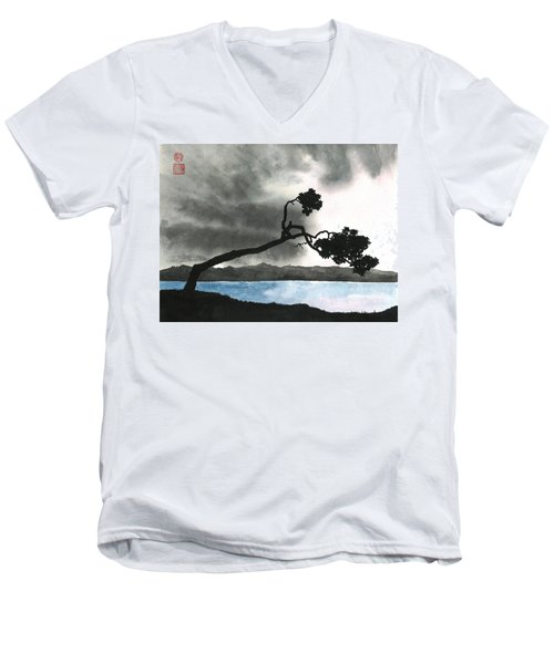Lake Kussharo Men's V-Neck T-Shirt