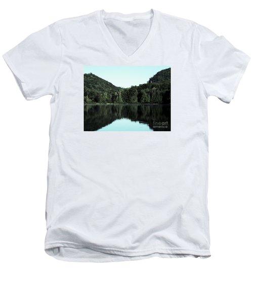 Lake Landscape Men's V-Neck T-Shirt by France Laliberte