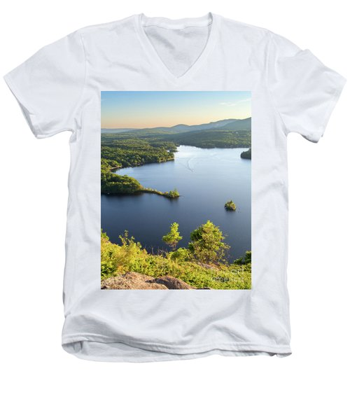 Lake Megunticook, Camden, Maine  -43960-43962 Men's V-Neck T-Shirt
