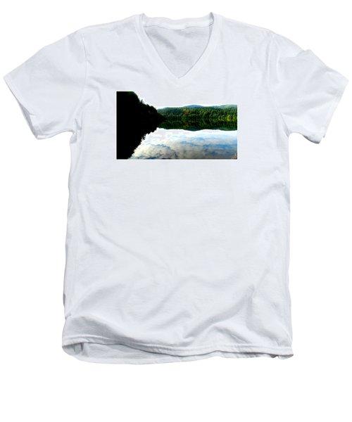 Lake Padden Cloud Reflection Men's V-Neck T-Shirt