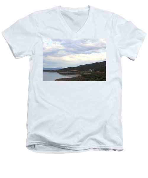Lake Roosevelt Bridge 1 Men's V-Neck T-Shirt