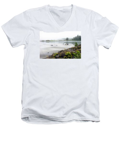 Lake Superior Men's V-Neck T-Shirt by Ed Hall