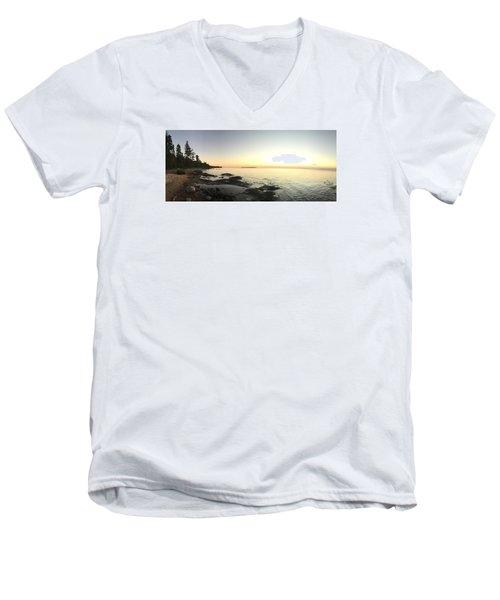 Lake Superior Evening Sky Men's V-Neck T-Shirt