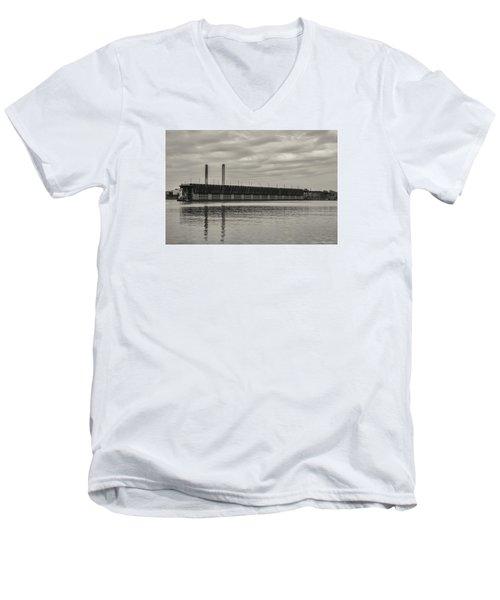 Lake Superior Oar Dock Men's V-Neck T-Shirt by Dan Hefle