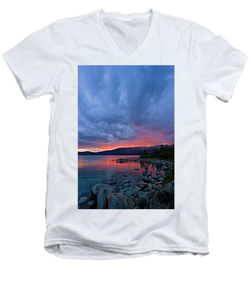 Lake Tahoe Sunset Portrait 2 Men's V-Neck T-Shirt