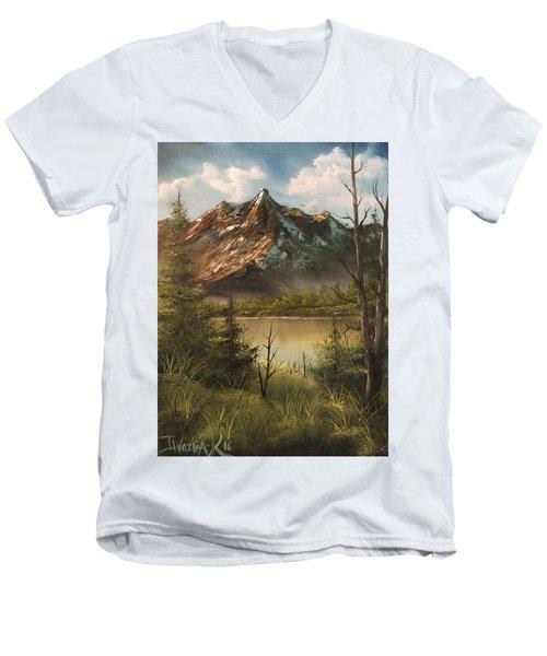 Lake View Mountain  Men's V-Neck T-Shirt
