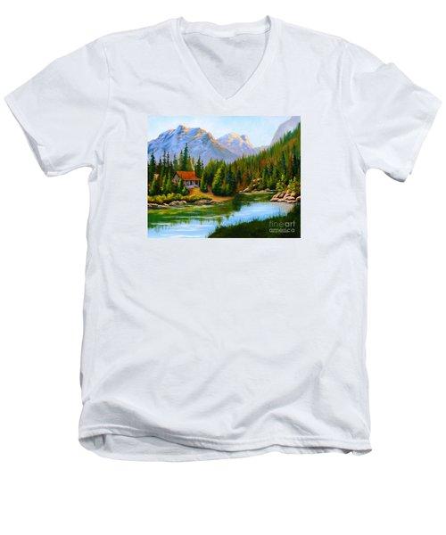 Lakeside Cabin Men's V-Neck T-Shirt