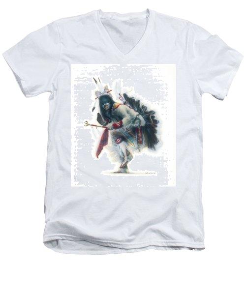 Lakota Dancer Men's V-Neck T-Shirt