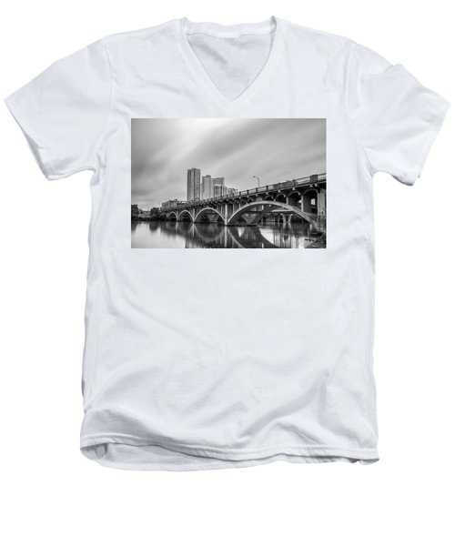 Lamar Bridge In Austin, Texas Men's V-Neck T-Shirt