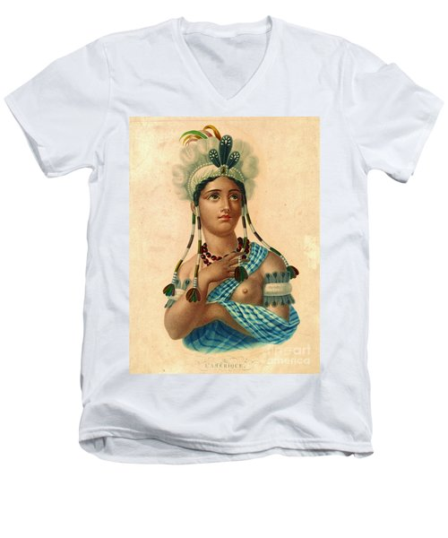 L'amerique 1820 Men's V-Neck T-Shirt by Padre Art