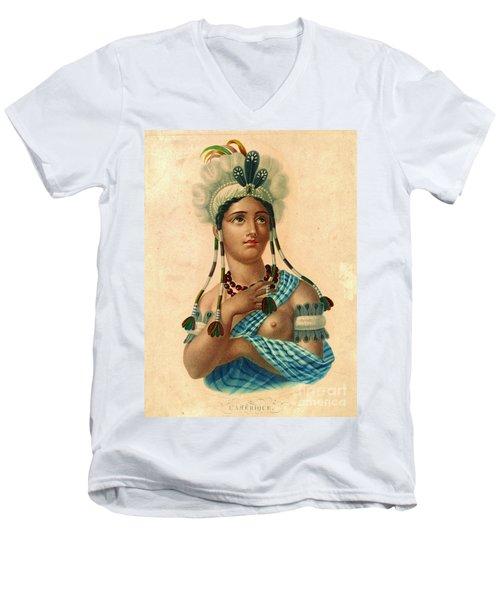 L'amerique 1820 Men's V-Neck T-Shirt