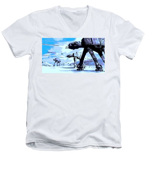 Land Battle Men's V-Neck T-Shirt