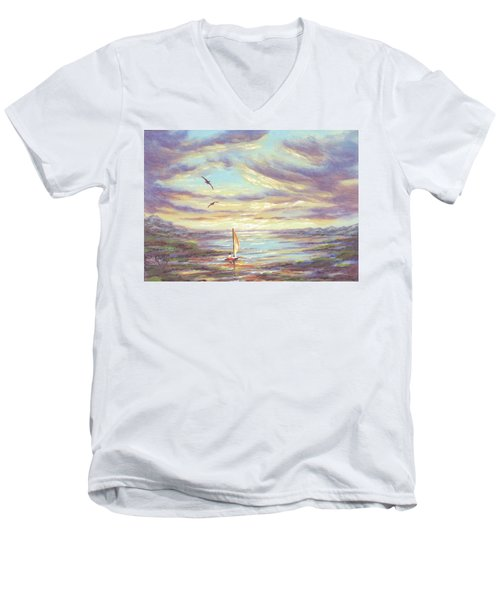 Land Escape Men's V-Neck T-Shirt