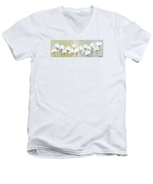 Land Of Cotton Men's V-Neck T-Shirt by Kirsten Reed