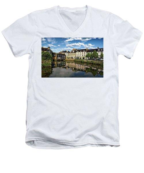 Landerneau Village View Men's V-Neck T-Shirt