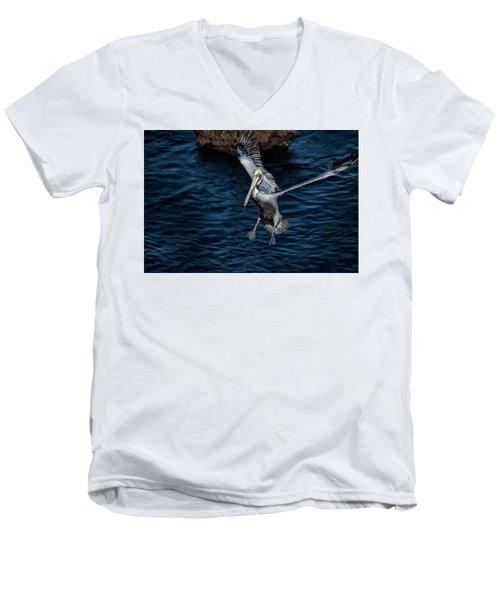 Landing 2 Men's V-Neck T-Shirt by James David Phenicie