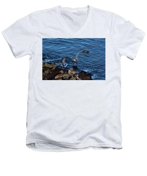 Landing Fly-by Men's V-Neck T-Shirt