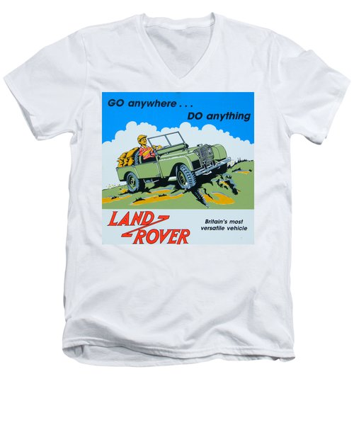Landrover Advert - Go Anywhere.....do Anything Men's V-Neck T-Shirt
