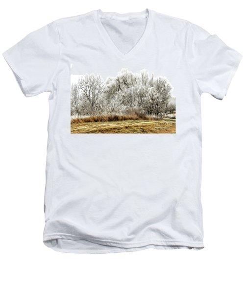 Landscape In Winter Men's V-Neck T-Shirt