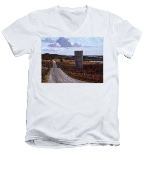 Landscape With Silos Men's V-Neck T-Shirt