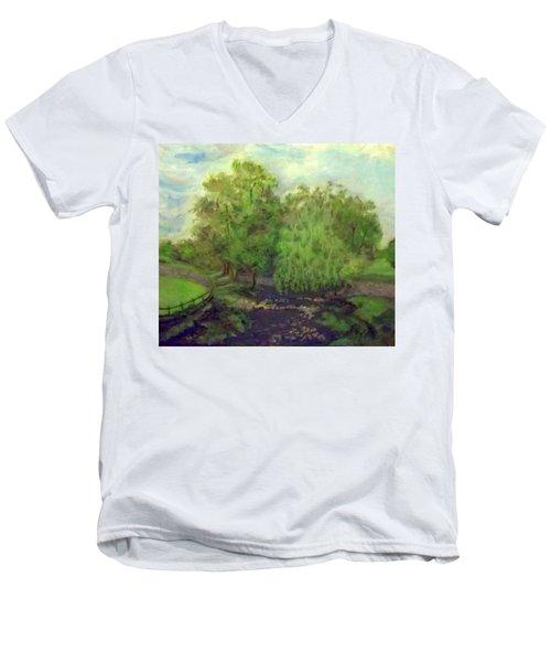 Landscape With Trees Men's V-Neck T-Shirt